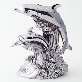 ドルフィン ブランデー|ブラックパールドルフィン ブラックアイズ(ブラックダイヤモンド)(イルカ 2匹版)40% 500ml
