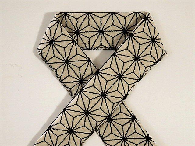 麻の葉刺繍半衿