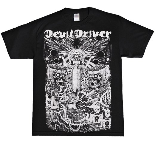 <img class='new_mark_img1' src='https://img.shop-pro.jp/img/new/icons1.gif' style='border:none;display:inline;margin:0px;padding:0px;width:auto;' />Devildriver / デヴィルドライヴァー - Delusional Haze. Tシャツ【お取寄せ】