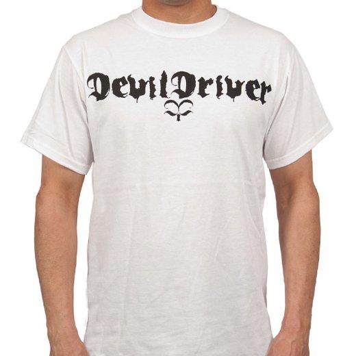 Devildriver / デヴィルドライヴァー - Logo (White). Tシャツ【お取寄せ】