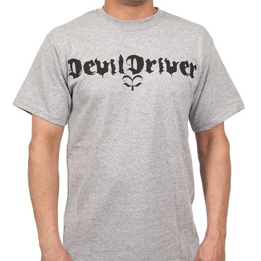 Devildriver / デヴィルドライヴァー - Logo (Athletic Grey). Tシャツ【お取寄せ】