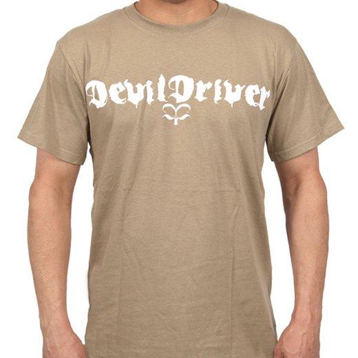 Devildriver / デヴィルドライヴァー - Logo (Khaki). Tシャツ【お取寄せ】