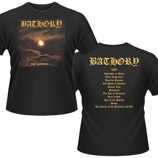 Bathory / バソリー - The Return. Tシャツ【お取寄せ】