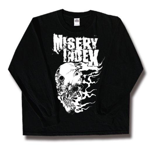 Misery Index / ミザリー・インデックス - Flameface. ロングスリーブTシャツ【お取寄せ】