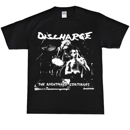Discharge / ディスチャージ - The Nightmare Continues. Tシャツ【お取寄せ】