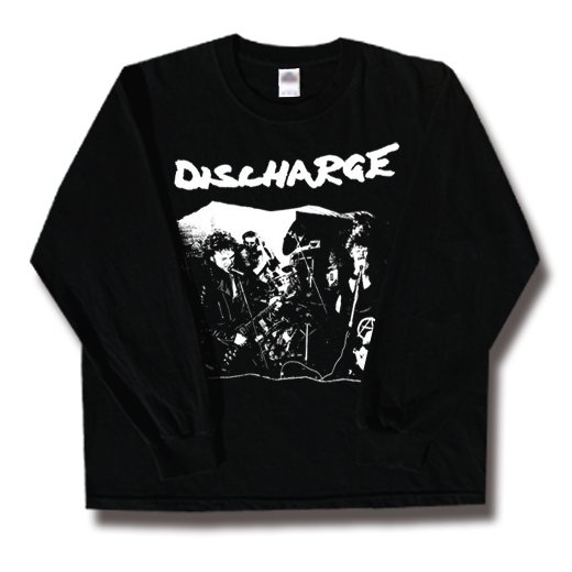 Discharge / ディスチャージ - Band Playing. ロングスリーブTシャツ【お取寄せ】