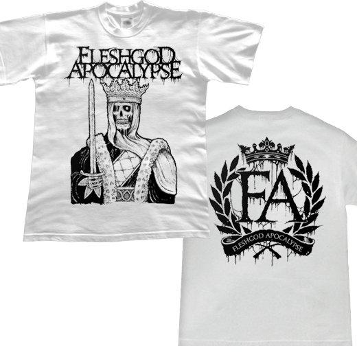 Fleshgod Apocalypse / フレッシュゴッド・アポカリプス - Dead King (White). Tシャツ【お取寄せ】