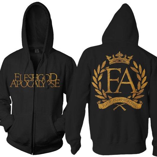 Fleshgod Apocalypse / フレッシュゴッド・アポカリプス - Fleshgod Laurel. ジップアップパーカー【お取寄せ】