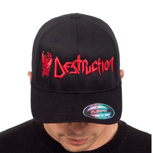 Destruction / デストラクション - Cracked Skull. フレックスフィットキャップ【お取寄せ】