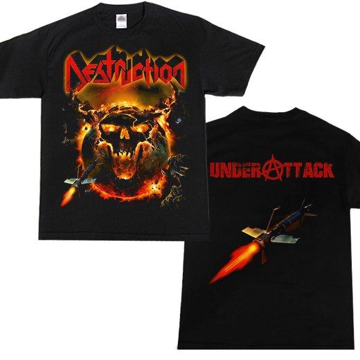 Destruction / デストラクション - Under Attack. Tシャツ【お取寄せ】