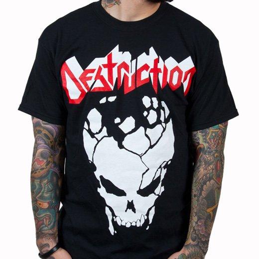 Destruction / デストラクション - Cracked Skull. Tシャツ【お取寄せ】