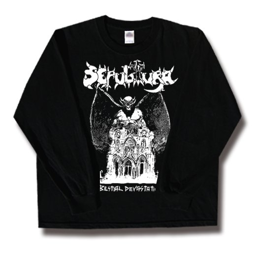 Sepultura / セパルトゥラ - Bestial Devastation. ロングスリーブTシャツ【お取寄せ】