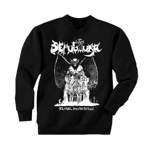 Sepultura / セパルトゥラ - Bestial Devastation. トレーナー【お取寄せ】