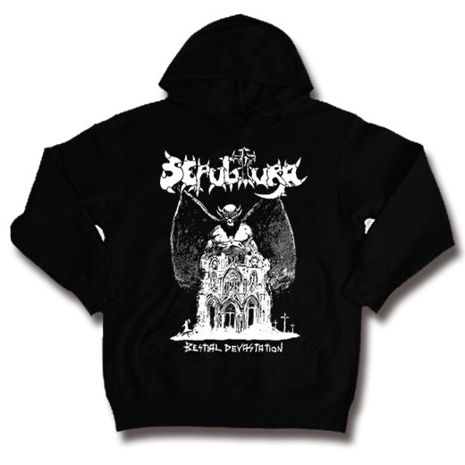 Sepultura / セパルトゥラ - Bestial Devastation. パーカー【お取寄せ】