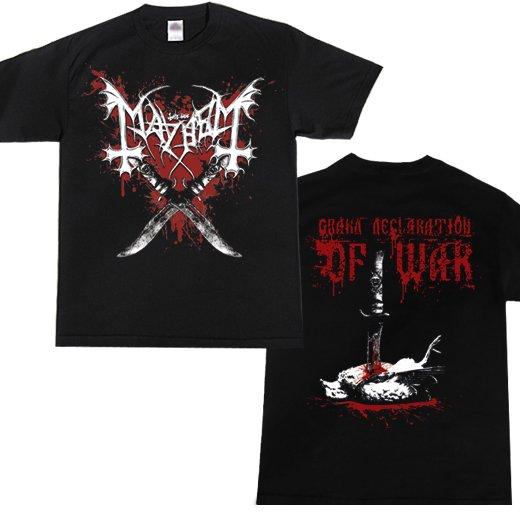 Mayhem / メイヘム - Declaration Of War. Tシャツ【お取寄せ】