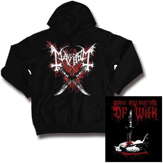 Mayhem / メイヘム - Declaration Of War. ジップアップパーカー【お取寄せ】