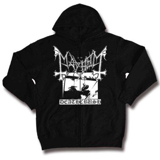 Mayhem / メイヘム - Deathcrush. ジップアップパーカー【お取寄せ】
