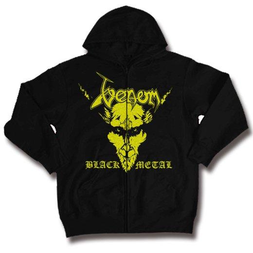 Venom / ヴェノム - Black Metal. ジップアップパーカー【お取寄せ】
