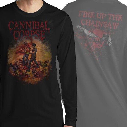 【お取寄せ】Cannibal Corpse / カンニバル・コープス - Fire Up The Chainsaw. ロングスリーブTシャツ