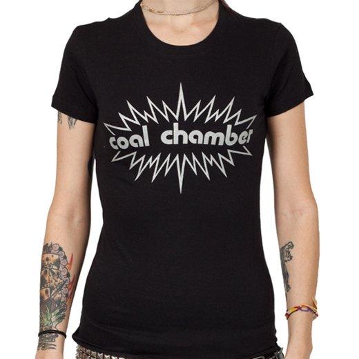 Coal Chamber / コール・チェンバー - Burst Logo. レディースTシャツ【お取寄せ】