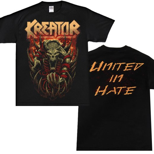 Kreator / クリーター - United In Hate.  Tシャツ【お取寄せ】