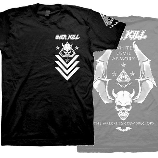 Overkill / オーヴァーキル - White Devil Spec Ops. Tシャツ【お取寄せ】