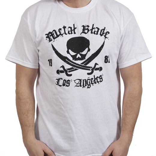 Metal Blade Records / メタル・ブレイド・レコーズ - Pirate (White). Tシャツ【お取寄せ】