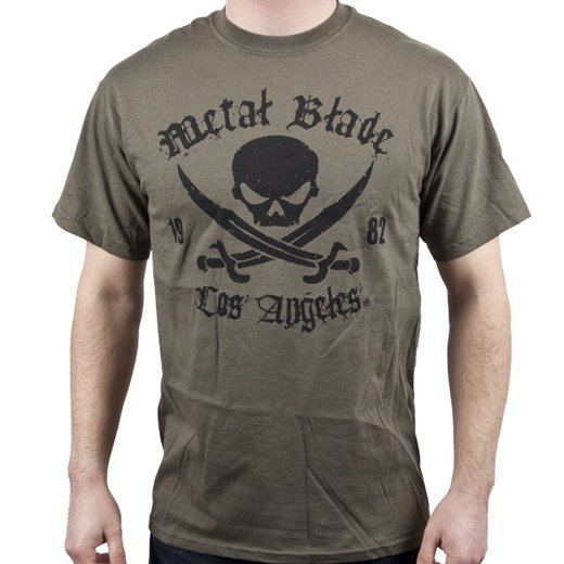 Metal Blade Records / メタル・ブレイド・レコーズ - Pirate (Military Green). Tシャツ【お取寄せ】