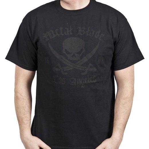 Metal Blade Records / メタル・ブレイド・レコーズ - Pirate (Black on Black). Tシャツ【お取寄せ】