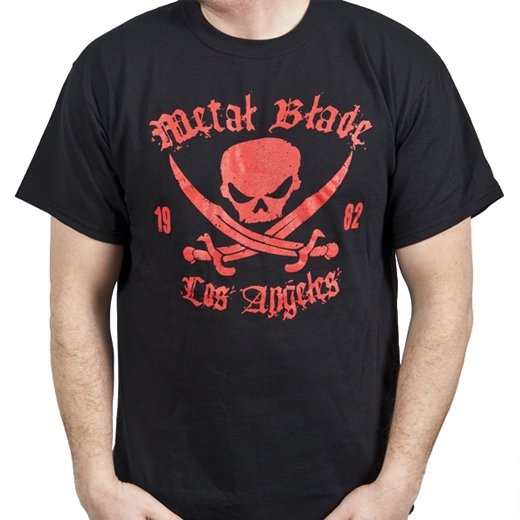 Metal Blade Records / メタル・ブレイド・レコーズ - Pirate (Red on Black). Tシャツ【お取寄せ】