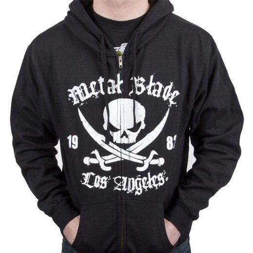 Metal Blade Records / メタル・ブレイド・レコーズ - Pirate (Black). ジップアップパーカー【お取寄せ】
