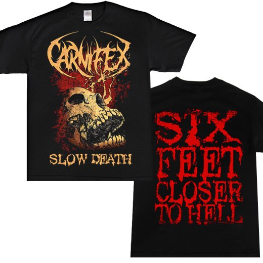 Carnifex / カーニフェックス - Slow death. Tシャツ【お取寄せ】