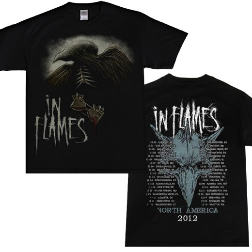 In Flames / イン・フレイムス - Winter 2012 Tour. Tシャツ【お取寄せ】