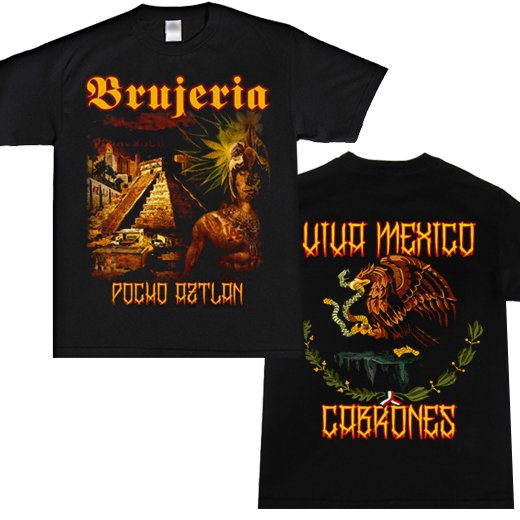 Brujeria / ブルへリア - Pocho Aztlan. Tシャツ【お取寄せ】