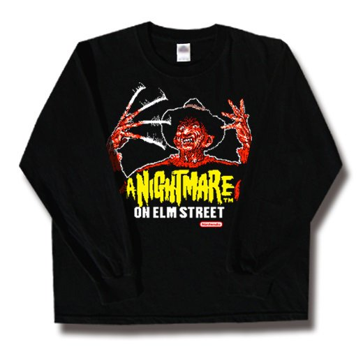 <img class='new_mark_img1' src='//img.shop-pro.jp/img/new/icons1.gif' style='border:none;display:inline;margin:0px;padding:0px;width:auto;' />A Nightmare on Elm Street / エルム街の悪夢. ロングスリーブTシャツ【お取寄せ】