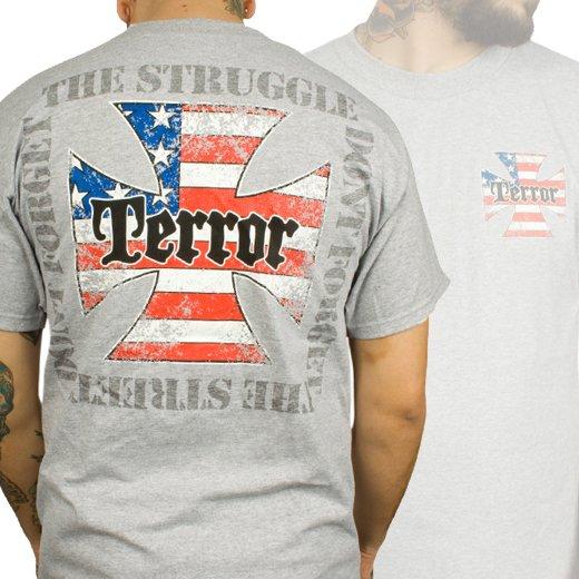 Terror / テラー - The Struggle (Grey). Tシャツ【お取寄せ】