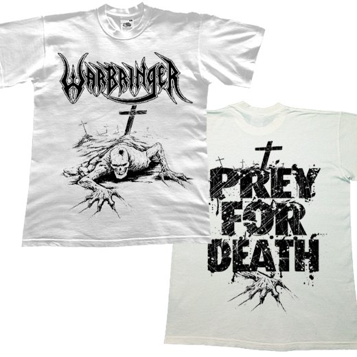 Warbringer / ウォーブリンガー - Prey For Death (White). Tシャツ【お取寄せ】