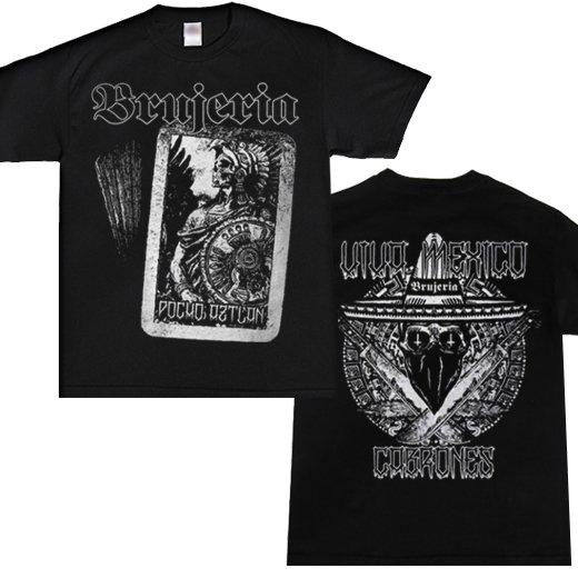 Brujeria / ブルへリア - Aztlan Warrior Viva Mexico. Tシャツ【お取寄せ】