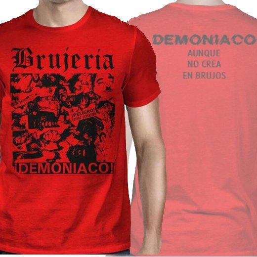 Brujeria / ブルへリア - Demoniaco No Crea en Brujos (Red). Tシャツ【お取寄せ】