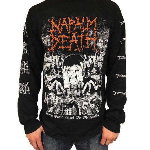 Napalm Death / ナパーム・デス - From Enslavement To Obliteration. ロングスリーブTシャツ【お取寄せ】