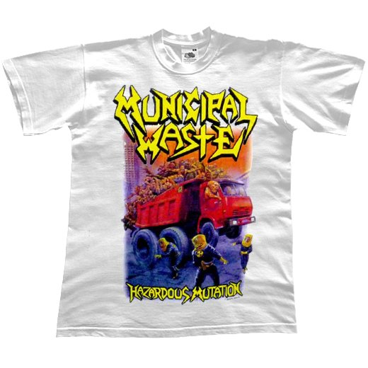 Municipal Waste / ミュニシパル・ウェイスト - Hazardous Mutation (White). Tシャツ【お取寄せ】