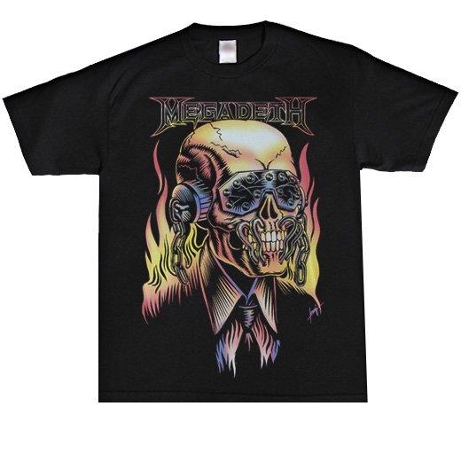 Megadeth / メガデス - Flaming Vic. Tシャツ【お取寄せ】
