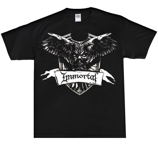 <img class='new_mark_img1' src='//img.shop-pro.jp/img/new/icons1.gif' style='border:none;display:inline;margin:0px;padding:0px;width:auto;' />Immortal / イモータル - Crest. Tシャツ【お取寄せ】