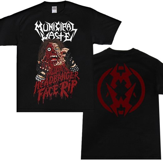 Municipal Waste / ミュニシパル・ウェイスト - Headbanger Face Rip. Tシャツ【お取寄せ】