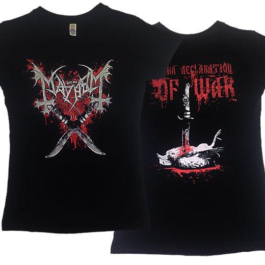 【即納商品】Mayhem / メイヘム - Declaration Of War. レディースTシャツ(Lサイズ)