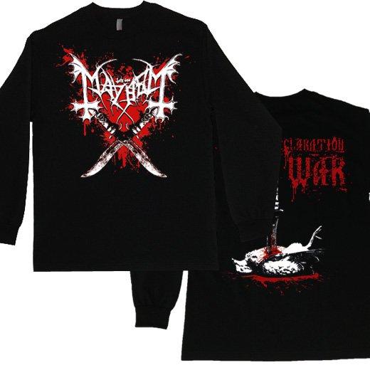 【即納商品】Mayhem / メイヘム - Declaration Of War. ロングスリーブTシャツ(XLサイズ)