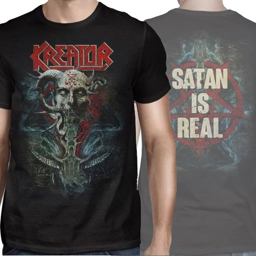 <img class='new_mark_img1' src='//img.shop-pro.jp/img/new/icons1.gif' style='border:none;display:inline;margin:0px;padding:0px;width:auto;' />Kreator / クリエイター - Satan Is Real. Tシャツ【お取寄せ】