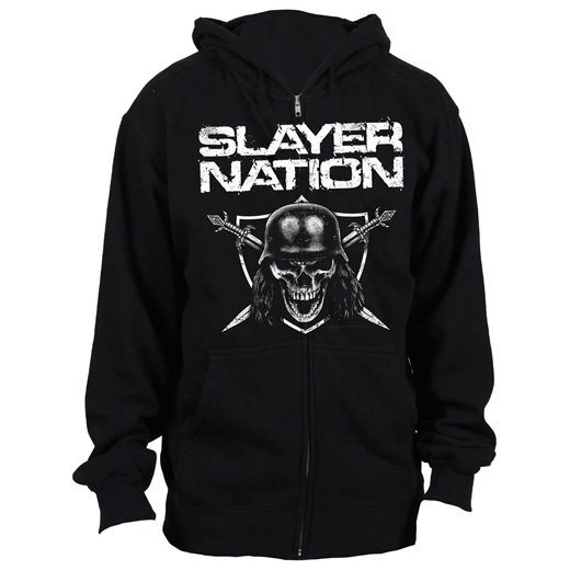 <img class='new_mark_img1' src='//img.shop-pro.jp/img/new/icons1.gif' style='border:none;display:inline;margin:0px;padding:0px;width:auto;' />Slayer / スレイヤー - Slayer Nation. ジップアップパーカー【お取寄せ】