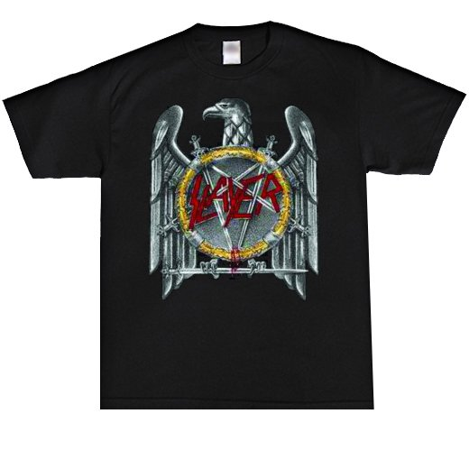 <img class='new_mark_img1' src='//img.shop-pro.jp/img/new/icons1.gif' style='border:none;display:inline;margin:0px;padding:0px;width:auto;' />Slayer / スレイヤー - Silver Eagle. Tシャツ【お取寄せ】