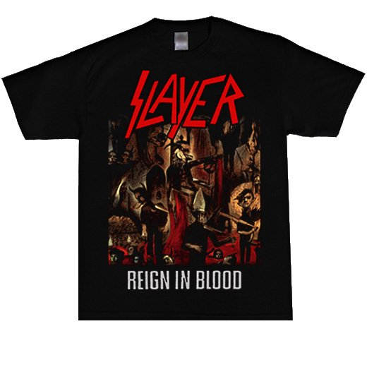 <img class='new_mark_img1' src='//img.shop-pro.jp/img/new/icons1.gif' style='border:none;display:inline;margin:0px;padding:0px;width:auto;' />Slayer / スレイヤー - Reign In Blood. Tシャツ【お取寄せ】